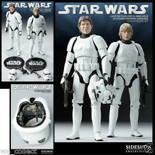 "Sideshow HAN SOLO & LUKE SKYWALKER STORMTROOPER disguise 12"" 1/6  SDCC STAR WARS"