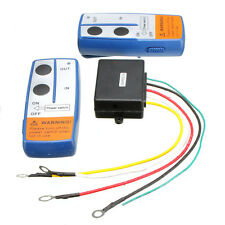 12V 100ft Wireless Winch Remote Controller Recovery Crane Twin Han