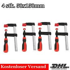 4 Stück Schraubzwinge Set F Klemmzwinge Spannweite Holzbearbeitung 150x50mm