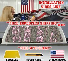 PINK CAMO CAMOUFLAGE PICKUP TRUCK BACK WINDOW GRAPHIC DECAL TINT HUNTER