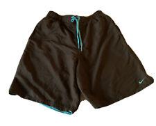 "Nike Men's Swim Trunks Size M Mesh Lined 9"" Swimsuit Shorts, Black Surge ,MED"