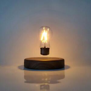Magnetic Levitating Floating Wireless LED Light Bulb Desk Lamp Desktop Decor