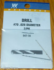 """Walthers #947-70 (Drill Bits) #70 .028"""" Dia (2 in Package)"""