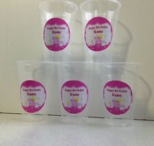 18 x Personalised Peppa Pig Birthday Party Cup Decorations