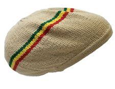 Tan Beige Beret Tam Hat Rasta Slouch Beanie Crochet Cap Dreadlocks Dreads Hair