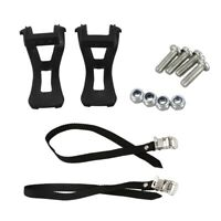 1 Pair Cycling Road Bike Mountain Bike Bicycle Toe Clips + Straps For Pedal G6M3