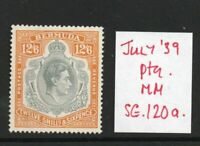 BERMUDA GEORGE VI SG120a july 39 Ptg. lightly hinged.