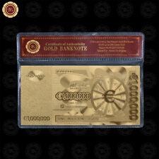 WR Euro One Million 24k Gold Foil billete de banco billete de regalo de empresa