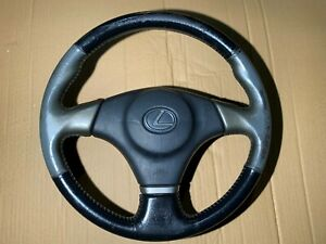 99-05 LEXUS IS200 STEERING WHEEL 97K WITH GOLD SIDES + A/BAG WORN