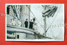HMS Queen Elizabeth, Battleship, Royal Navy, 1916 World War 1, Postcard, Unused