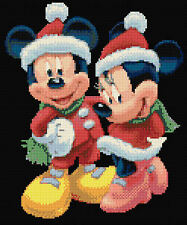 Il Natale Mickey & Minnie nero contati Punto Croce Kit, Disney TV/cinema cartoni animati