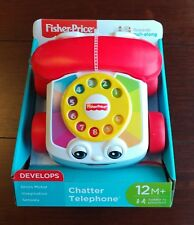 Baby Telephone Pull Toy Fisher Price Chatter Phone Ringing Sounds Fun  Dial