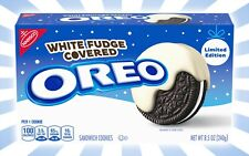 Oreo White Fudge Covered Chocolate Sandwich Cookies LIMITED EDITION 8.5 OZ