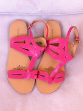 NINE WEST PINK LEATHER ANKLE STRAP FLATS  SIZE: 9 M NEAR NEW
