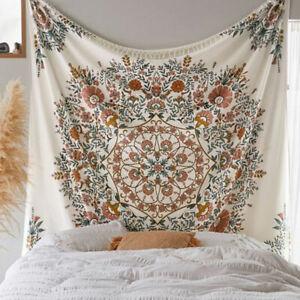 Indian Mandala Tapestry Hippie Wall Hanging Blue Bohemian Bedspread Twin DecBJN