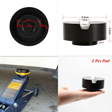 65*33mm Black Car Suv Slotted Frame Rail Floor Jack Disk Rubber Pad Universal
