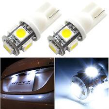 20pcs T10 5 SMD 5050 Lamp LED bulbs W5W 2825 158 192 168 194 Xenon  White 5000K