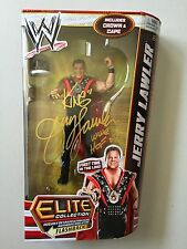 JERRY THE KING LAWLER Autographed WWE Elite Wrestling Figure (WWE WWF) Signed