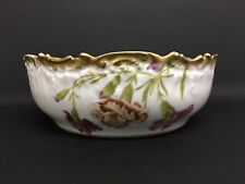 Beautiful T&V Limoges Large Bowl with Carnations