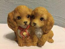 Homco Home Interiors 1988 Masterpiece Porcelain Figurine Cocker Spaniels Dogs