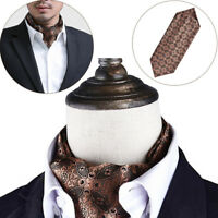 Fashion Men Silk Cravat Scarves Paisley Ascot Wedding Party Self-tied Ties cbyt