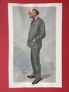 Original 1904 Vanity Fair Print of Oliver Joseph Lodge - Birmingham University