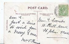 Genealogy Postcard - Family History - Coombs - Hill Road - St Johns Wood   U2451