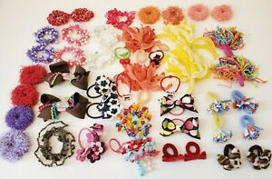 HUGE Lot GYMBOREE & Children's PLACE Pony Tail Hair clips Ribbons Curly pieces
