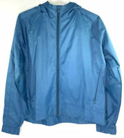 UNDER ARMOUR WOMEN's FULL ZIP TEAL HOODED WINDBREAKER JACKET SIZE LARGE NEW