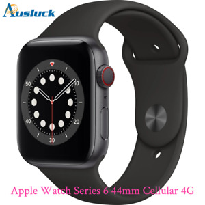 """APPLE WATCH 44MM SPORTS BAND MG2E3X/A SPACE GREY [SERIES 6] CELLULAR """"AUSLUCK"""""""