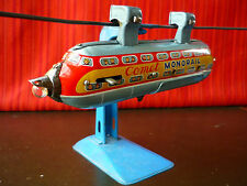 Scarce TN Nomura Japan Tin Battery Operated Comet Space Monorail Robot