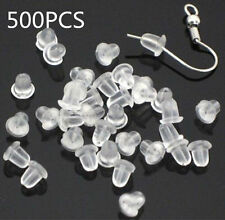 New 500X Silicone Earring Back Plugs Stoppers Ear Post Nuts 4MM Jewelry Findings