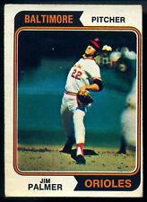 1974 TOPPS OPC O PEE CHEE BASEBALL #40 JIM PALMER VG-EX BALTIMORE ORIOLES CARD