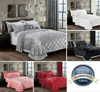 Fancy 3 Piece Quilted Bedspread Comforter Pillow Shams Double King Superking