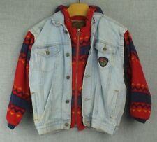 Bugle Boy Vintage Denim Boys Jacket Size Xl Jean Zip Up Button Up Pockets Fleece