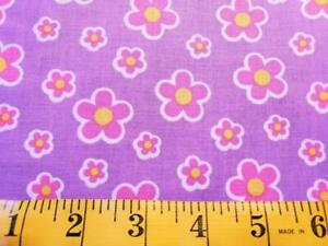 4 Yards BLOTCH FLORAL Tossed Mod Floral Cotton Purple/Pink - Springs CP35619