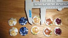 10 cabochon piedras broche oreja flor Mix Flower Retro Vintage joyas de fabricación