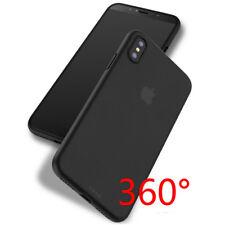 Black Slim Matte PP Ultra-Thin Back Skin Cover Case For Apple iPhone X 7P 5 6 SE