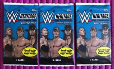 2015 Topps WWE Heritage Wrestling Trading Cards, 3 Packs x 3 cards