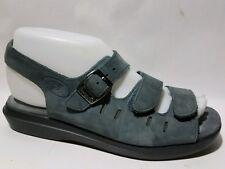 PROPET Wmns 6.5 M Smokey Blue Leather Ankle Strap Sandal W0001 Shoe Cushion Walk