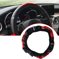 1pcs Universal Car Steering Wheel Cover PU Leather Anti-slip Decoration Cover