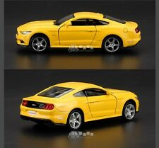 """Ford Mustang GT 2015 Model Cars 5"""" Toys Collection & Gifts Alloy Diecast Yellow"""