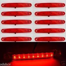 10x 9 LEDs 12V Rouge Côté Arrière Feux De Position Camping Car Caravane Camion