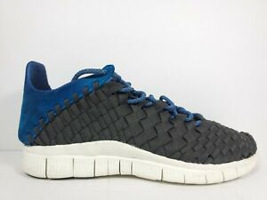 Nike Free Inneva Woven Mens Size 9.5 Shoes Newsprint Blue Hero Sail 579916 004