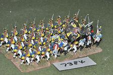 25mm Guerra de los siete años Brunswick Mosqueteros 36 Figuras De Metal Pintado (7384)