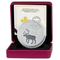 2017 Canada Endangered Animal Cutout Caribou Silver Proof $30 In OGP SKU45913
