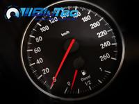 Rote Farbfolie f. BMW E81 - E88 Tachonadeln / Tachozeiger - M Tacho - M Optik