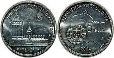 Portugal 5 euro argent 2004 unesco-patrimoine mondial historique centre d'Evora
