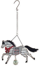 """""""Christmas Time to Get Your Jingle On"""" Holiday Horse Bouncy Garden Hanging Sign"""