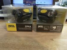 2 Headlamp - Petzl Zipka  Batteries Included.....NEW military issued surplus